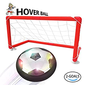 Toyk Kids toys -- LED hover ball set 2 goals mini screwdriver - Children Toys Boys Air Power Training Ball playing football game