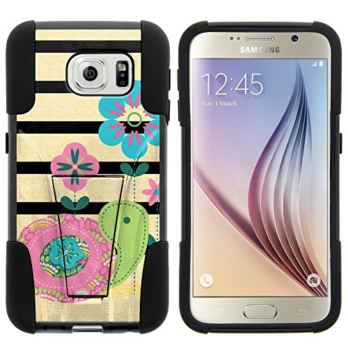 Galaxy S6 Case, Full Body Fusion STRIKE Impact Kickstand Case with Exclusive Illustrations for Samsung Galaxy S6 VI SM-G920 (T Mobile, Sprint, AT&T, US Cellular, Verizon) from MINITURTLE | Includes Clear Screen Protector and Stylus Pen - Little Turtle