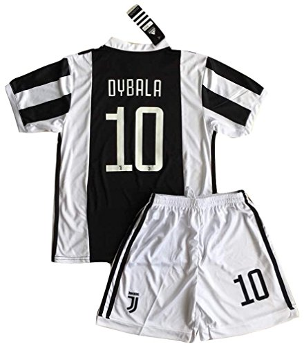 2017-18 Kids/Youths Home Soccer Jersey & Shorts (9-10 Years Old) (Juventus Home Jersey)