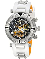 Invicta Womens Character Collection Quartz Stainless Steel and Silicone Casual Watch, Color:White (Model: 24881)