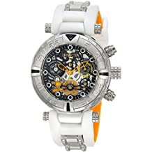 Invicta Women's 'Character Collection' Quartz Stainless Steel and Silicone Casual Watch, Color:White (Model: 24881)