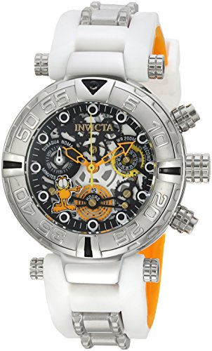 (Invicta Women's Character Collection Stainless Steel Quartz Watch with Silicone Strap, White, 20 (Model: 24881))