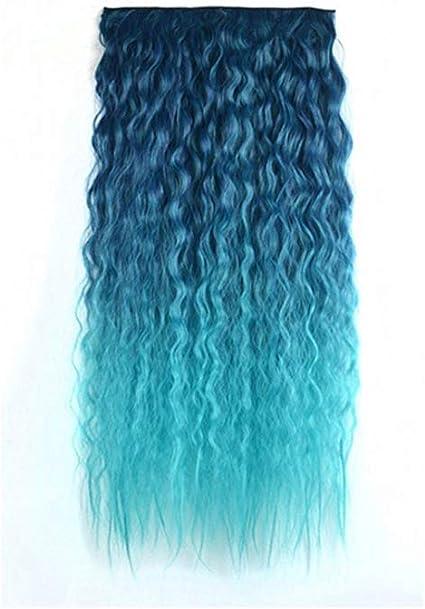 Extensión de pelo ondulado y rizado para mujer, 60 cm, color ...
