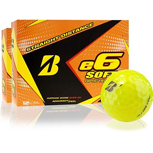 Bridgestone E5 Golf Balls - Bridgestone e6 Soft Yellow Golf Balls, 2 Dozen