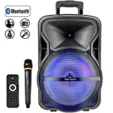 """15"""" Tailgate Bluetooth Portable PA Speaker with MP3/USB/TF/FM Radio/KARAOKE function, LED Party Light,wireless"""
