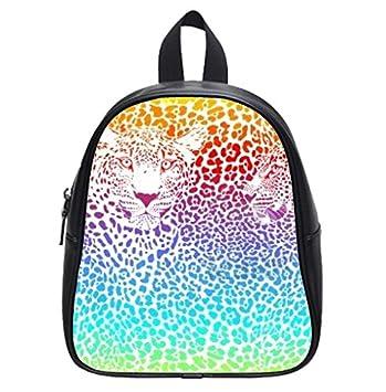 3a8f741ac65b Amazon.com : Colorful Rainbow Cheetah Custom Small Kid's Backpack ...