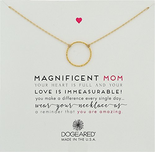 (Dogeared Women's Magnificent Mom, Little Sparkle Karma Necklace Gold Dipped One Size)