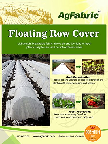 Agfabric Floating Row Cover and Plant Blanket, 0.55oz Fabric of 5x25ft for Frost Protection