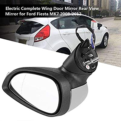 Side Mirror Replacement, with Power Heated and Turning LED Signal Towing Mirrors Complete Wing Door Mirror Rear View Mirror Compatible with Ford Fiesta MK7 2008-2012 - Right Passenger Side: Automotive