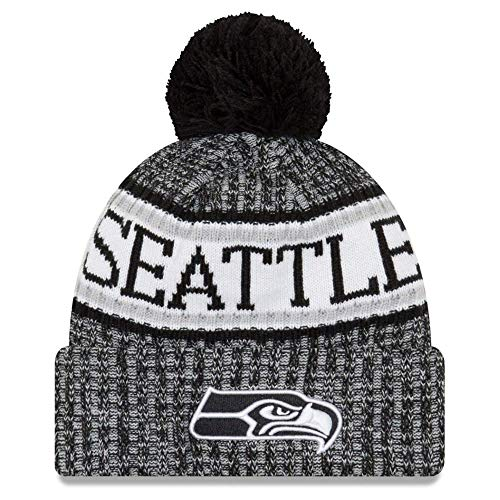 武装解除特異な選択するニューエラ (New Era) NFL サイドライン 2018 ボブル ビーニー帽 シアトル?シーホークス (Seattle Seahawks)