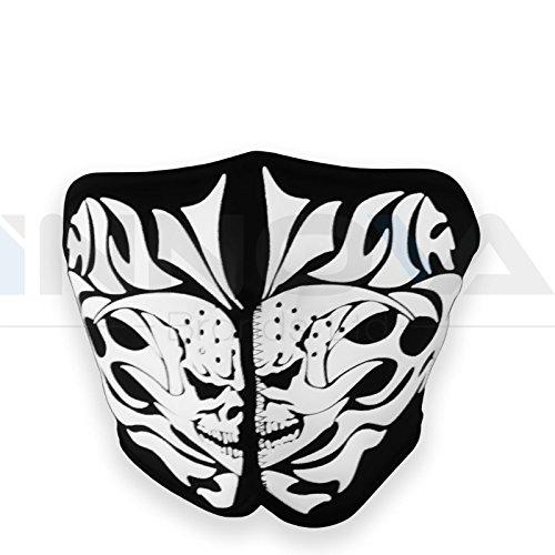 Neoprene Skeleton Half Face Skull Mask Reversible Motorcycle Motor Bike Ski Quad