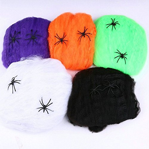 Halloween Cobweb Stretchy Spider Web For Haunted House Props Party Decoration Spiderweb 5 Colors Available New (Couple Games For Kitty Party)