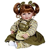 "Adora Toddler Froggy Fun Girl 20"" Girl Weighted Doll Gift Set for Children 6+ Huggable Vinyl Cuddly Snuggle Soft Body Toy"