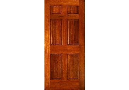 Genial ETO Doors EXMA600   Exterior Mahogany Wood 6 Square Panel Entry Door, Barn  Style Sliding