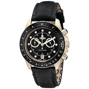 Vivienne Westwood Men's VV118BKBK Barbican Analog Display Swiss Quartz Black Watch