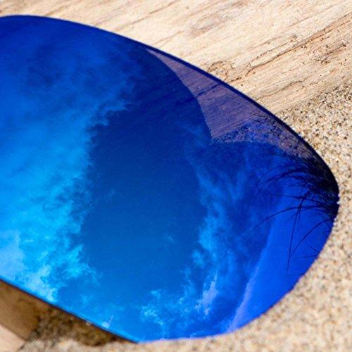 Verres de rechange pour Maui Jim Atoll MJ220 — Plusieurs options Polarisés Elite Bleu Glacier MirrorShield®