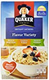 Quaker Instant Oatmeal Flavor Variety Pack, 10-Count Boxes ,15.1 oz, (Pack of 6)