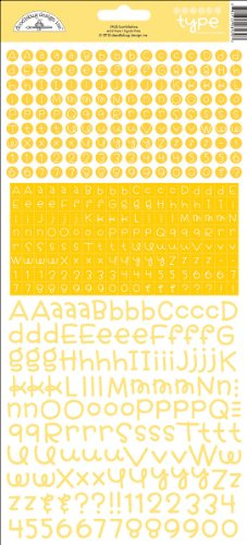 Teensy Type Cardstock Alphabet Stickers-Bumblebee *** Product Description: Doodlebug-Teensy Type Cardstock Alpha Stickers. This Package Contains One 12X6 Inch Sheet Of Assorted Cardstock Alpha Stickers. Available In A Variety Of Colors (Each Sold ***