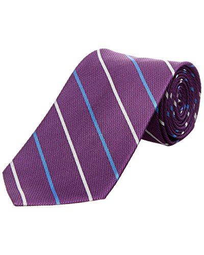 Brooks Brothers Mens Purple Bar Stripe Silk Tie, Os Brooks Brothers Silk Tie