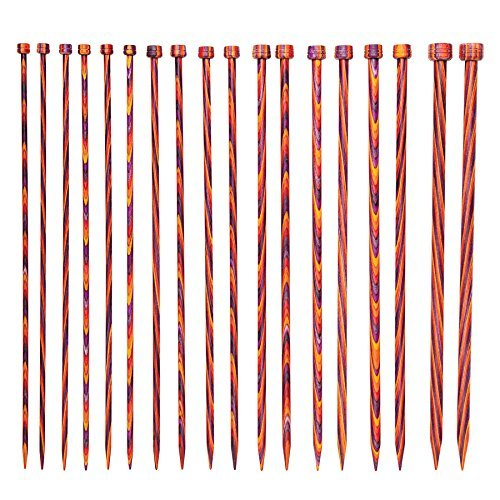 (Knit Picks Wood Straight Single Point Knitting Needle Set US 4-11 (10