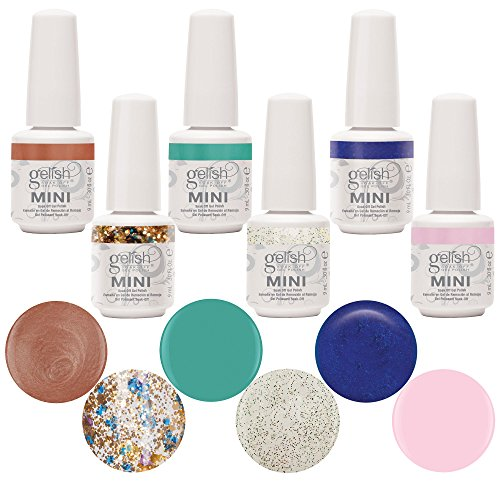 Gelish Gel Nail Polish 9 ml Mini Bottles Sweet and Chic Sailor Kit (6 Pack)