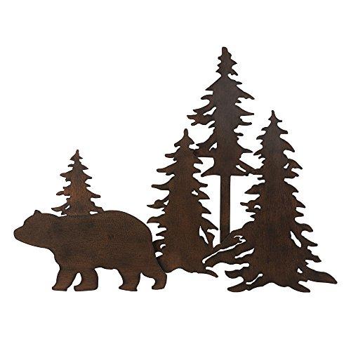 Bear Forest 3-D Metal Wall Art