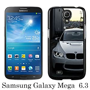 Beautiful And Unique Designed Case For Samsung Galaxy Mega 6.3 I9205 With White BMW M3 E92 Front black Phone Case