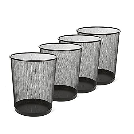 346d815d6448 Aojia AJ 2 Pack Mesh Round Wastebasket(9.3'X 7.3'D X10.4H), ly9103-2