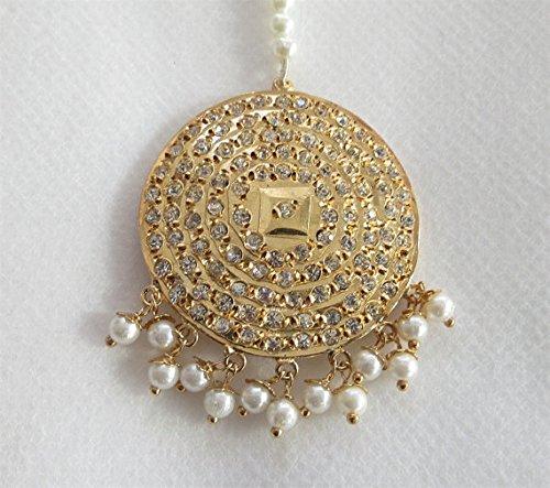 (Jadau Round Maang Tikka Online/ Indian Bollywood Head Tikka/ Headpiece Jewelry/ Mughal Muslim Pakistani)