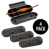 Kovot Extension Cord Safety Cover Protectors 4 Pack, Black: Great Protection Against Rain & Snow (4)