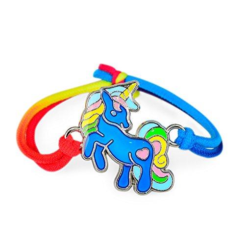 Fun Jewels 1PC Fairy Tale Cute Unicorn Charm Children Color Change Mood Bracelet Gift For Girls