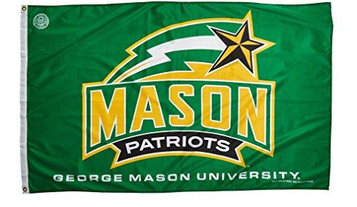 NCAA George Mason Patriots Banner Flag, Green, 3' x 5'