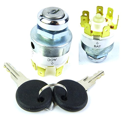 Motorcycle Electronics Universal Car Ignition Barrel Lock for 12 V Engines with 2 Keys: