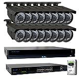 GW 16 Channel 4K NVR 8 Megapixel H.265 Video PoE Security Camera System - 16 x 8MP 2160P Weatherproof 2.7-13.5mm Varifocal UltraHD 4K IP Bullet Cameras, 196ft IR Night Vision, Pre-Installed 4TB HDD