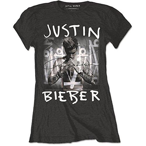 Signore Bieber Maglietta Purpose Nero Ladies Ufficiale Justin Donne Rock 5wxwz0YH