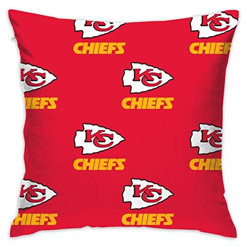 Jerrymoaus Kansas City Chiefs Simple Repetition, Zipper Pillowcase, Sofa Pillowcase, Office Pillowcase (17.7