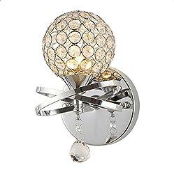 Lightess Crystal Ball Wall Light Luxury Wall Sconce Lighting Fixture Mini Night Lamp Light For Home Bedroom Hallway