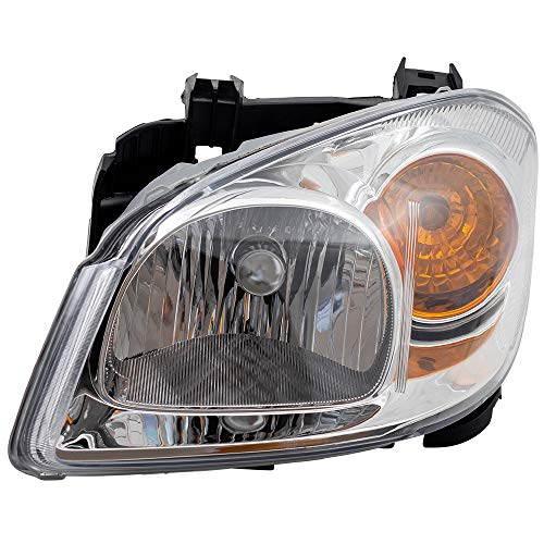 Drivers Headlight Headlamp Clear Lens Amber Signal Reflector with Bracket Replacement for 05-10 Cobalt 22740621