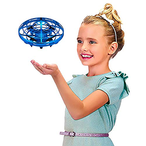 UFO Flying Ball Toys, Gravity Defying Hand-Controlled Suspension Helicopter Toy, Infrared Induction Interactive Drone Indoor Flyer Toys with 360° Rotating & LED Lights for Kids, Teenagers Boys Girls