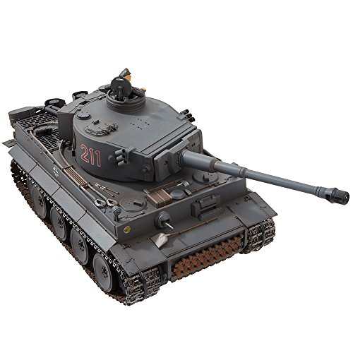 VS Tank A03102987 2.4GHz Tiger 1 Early IR Battle Tank (1/24 Scale), Grey