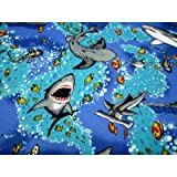 SheetWorld Fitted Pack N Play (Graco Square Playard) Sheet - Sea Life - Made In USA