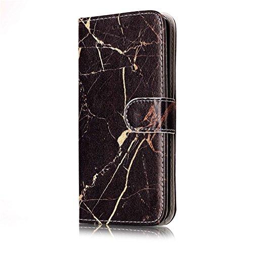 Samsung Galaxy S7 PU Cuero Funda, Vandot 3D Bling Rhinestones Mariposa Shell TPU Inner Bumper Case Funda con Billetera Tapa Holster Cierre Magnético Tarjeta Ranura Carcasa Teléfono Concha Bolsa Capas  DLS PT 05