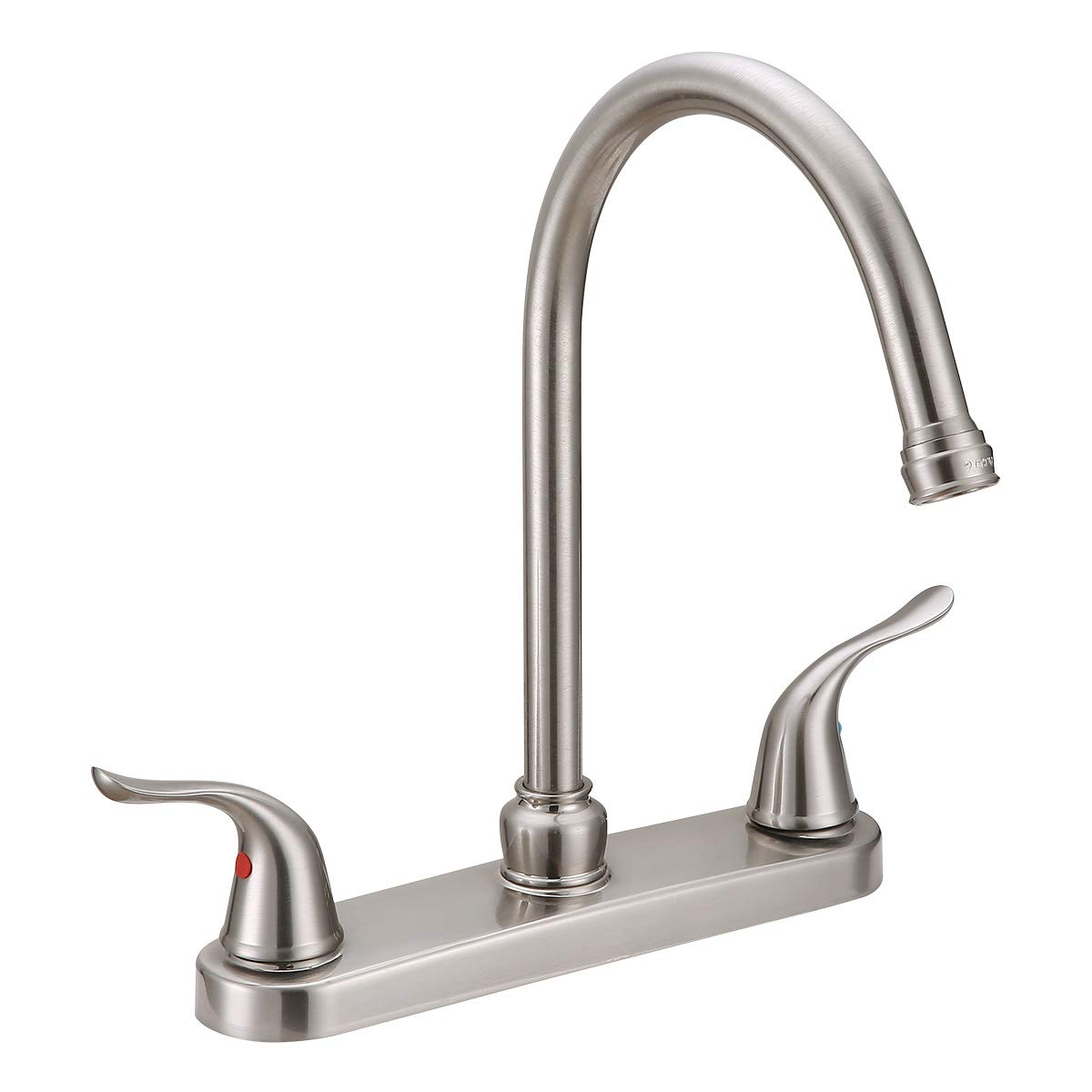 EZ-FLO 10773 10199 Kitchen Faucet Two Handles, Brushed Nickel