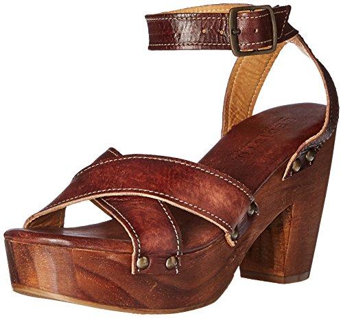 Letto | Stu Womens Kalah Sandalo Con Tacco Legno Di Teak Driftwood