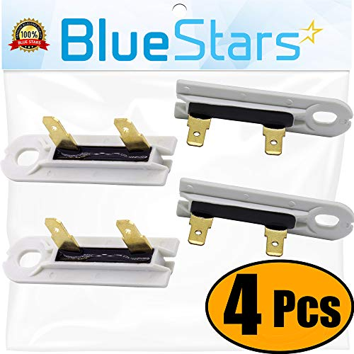 Fuse Whirlpool (3392519 Dryer Thermal Fuse Replacement part by Blue Stars - Exact Fit for Whirlpool & Kenmore Dryers - PACK OF 4)