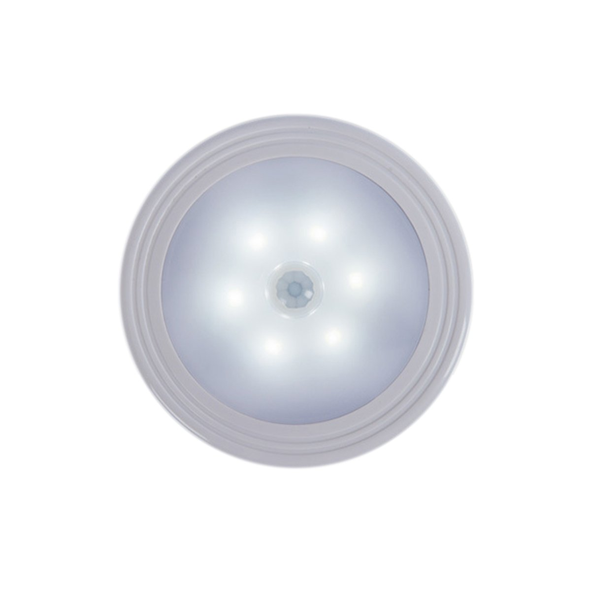 モーションセンサーライト、LEDナイトライトwith 6 LED、強力な磁気with Free 3 m粘着ライト廊下クローゼット寝室トイレCupboard battery B07CCFRXJR  コールドホワイト battery
