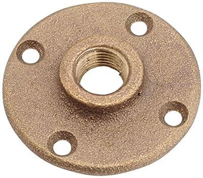 """Anderson Metals 738151-08 Brass Floor Flange, 1/2"""""""