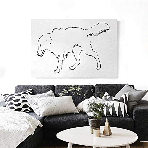 Used, homehot Golden Retriever Canvas Wall Art Sketch Art for sale  Delivered anywhere in Canada