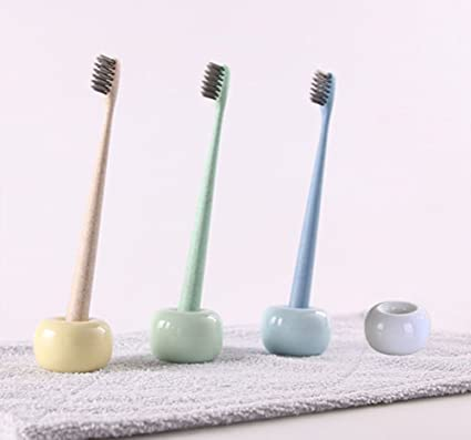 Mini soporte para cepillos de dientes familia juego de cerámica soporte para cepillo de dientes de