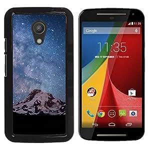 Las montañas blancas de nieve - Metal de aluminio y de plástico duro Caja del teléfono - Negro - Motorola G 2ND GEN II